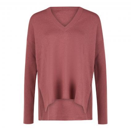 Pullover mit V-Ausschnitt rot (330 karneol)   46