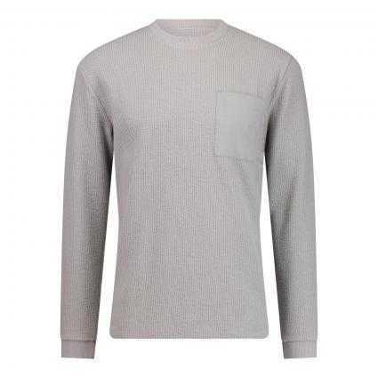 Sweatshirt mit Rundhalsausschnitt und Brusttasche  grau (6601 grau) | M