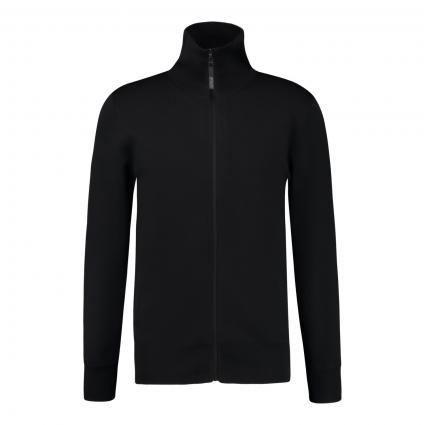 Strickjacke 'Mayden' mit Reißverschluss schwarz (1000 schwarz)   XL
