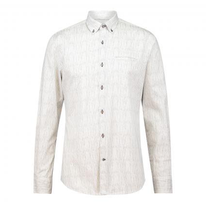 Modern-Fit Hemd mit Streifenmuster weiss (9000 9000) | XXL