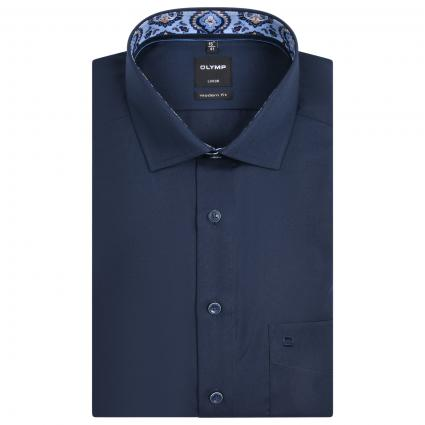 Modern-Fit Hemd mit Muster Details  blau (08 kobalt)   40