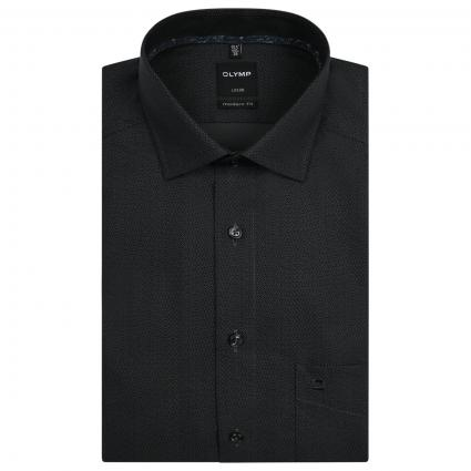 Modern-Fit Hemd mit All-Over Muster  schwarz (68 schwarz) | 39