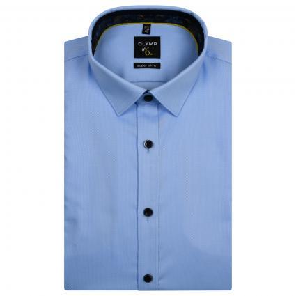 Slim-Fit Hemd mit Webmusterung blau (11 bleu)   39