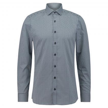 Body-Fit Hemd mit grafischem Muster blau (11 bleu) | 44
