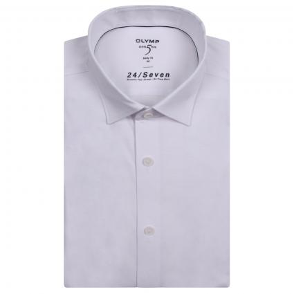 Stretchiges Slim-Fit Hemd  weiss (00 weiss) | 42