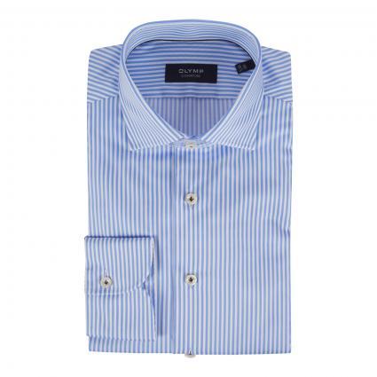 Tailored-Fit Hemd mit Streifenmuster blau (11 bleu)   43