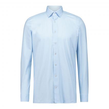 Modern-Fit Hemd mit Webmusterung blau (11 bleu) | 46