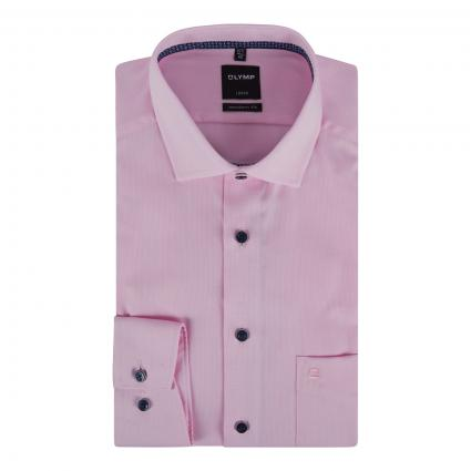 Chemise moderne avec motif structuré rose (30 rose) | 42