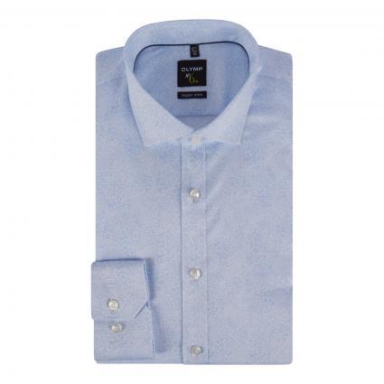 Super Slim-Fit Hemd mit All-Over Muster blau (11 bleu) | 39