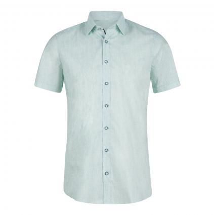 Body-Fit Hemd mit Kontrastknöpfen grün (45 grün) | 43