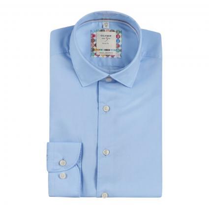 Body-Fit Hemd  blau (11 bleu) | 42
