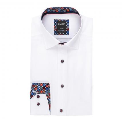 Modern-Fit Hemd mit feiner Struktur weiss (00 weiss)   40