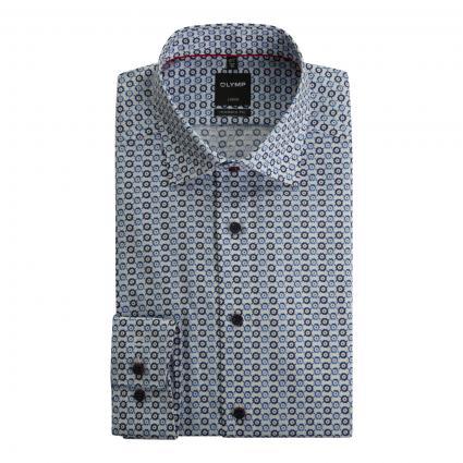Modern-Fit Hemd mit All-Over Muster weiss (00 weiss) | 45