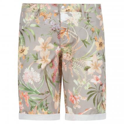 Shorts mit floraler Musterung taupe (241B light taupe pri) | 34 | 09