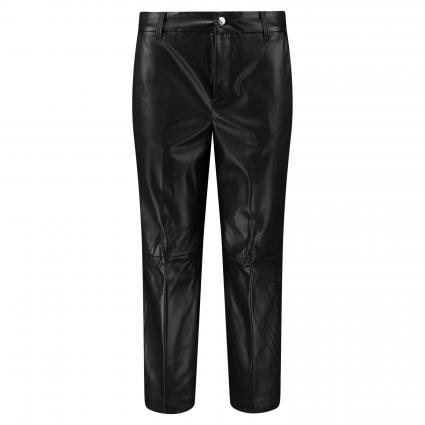 Weite Hose 'Chiara' in Leder-Optik schwarz (090 black) | 44 | 24