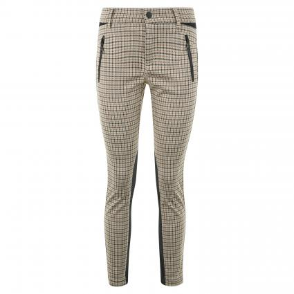 Schmale Hose mit All-Over Muster beige (201K light pearl whi) | 34