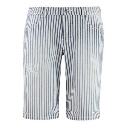 Shorts mit Streifenmustert blau (D444 blue stripe use) | 46 | 09