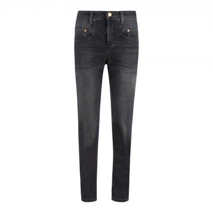 Highwaist-Jeans 'Rich Carrot' grau (D955 fancy anthrazit)   38   28
