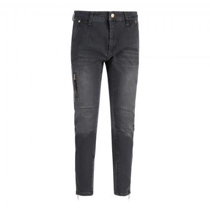 Slim-Fit Jeans 'Rich' grau (D928 black grey used) | 38 | 28