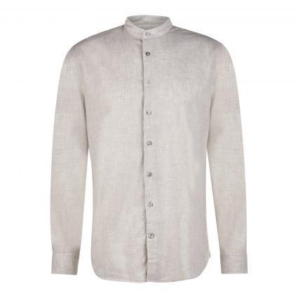 Tailored-Fit Hemd 'Granpa' silber (1209 Silver Cloud) | 43