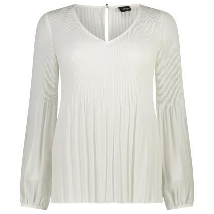 Plissierte Bluse mit Ballon-Ärmel ecru (0200 SOFT WHITE) | 42