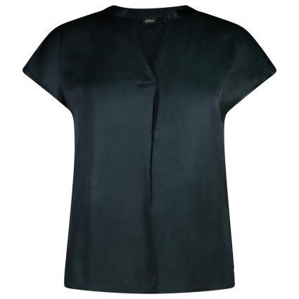 Kurzam Bluse mit V-Ausschnitt  grün (7977 DARK MYSTI)   44
