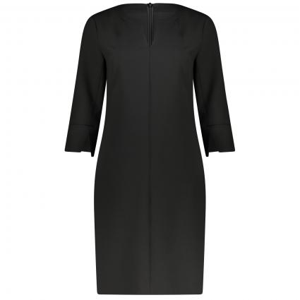 Business Kleid mit V-Ausschnitt  schwarz (9999 TRUE BLACK) | 38