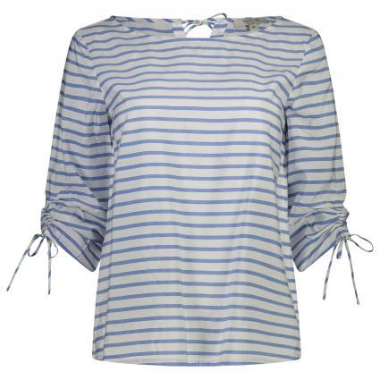 gestreifte Bluse 3/4 Arm,  blau (50G2 woven stri) | 36