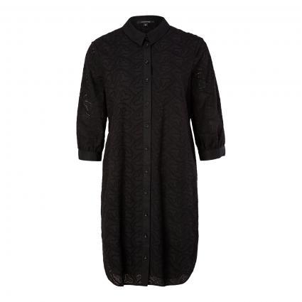 Hemdblusenkleid mit Knopfleiste schwarz (9999 black)   40