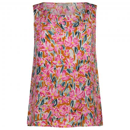 Ärmellos Bluse mit floralem All-Over Muster  gelb (14A0 Flower AOP) | 38
