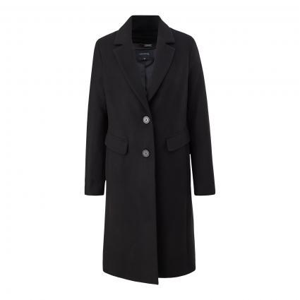Mantel mit Seitentaschen schwarz (9999 black)   42