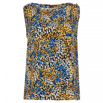 Ärmelloses Blusen-Top mit Musterung gelb (14M8 AOP colorf) | 36