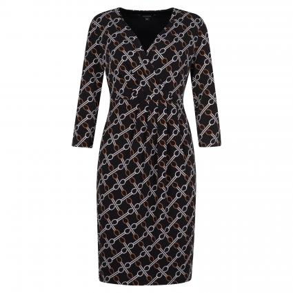 Kleid mit All-Over Musterung schwarz (99B1 black AOP)   34