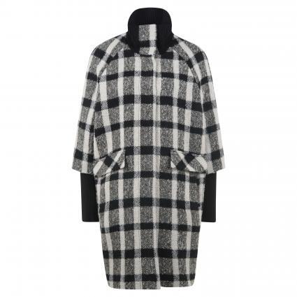 Mantel mit Strickbündchen schwarz (99N3 black whit) | 40