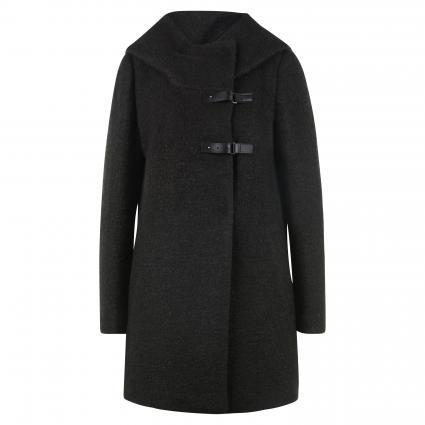 Mantel mit Schnallenverschluss schwarz (9999 Black) | 42
