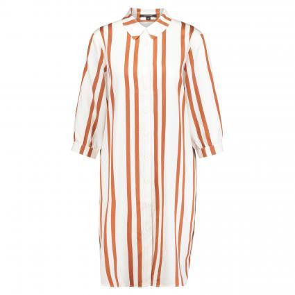 Kleid mit Streifenmuster cognac (28G2 woven bold) | 40