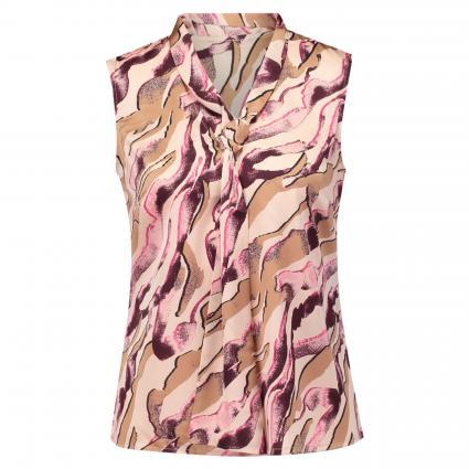 Ärmellose Schluppenbluse mit All-Over Druck pink (42A6 AOP Zebra) | 34