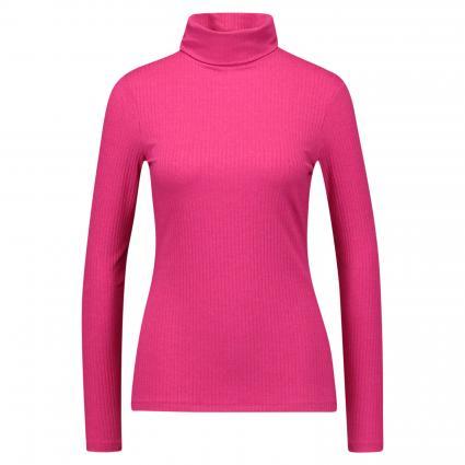 Longsleeve mit Ripp-Struktur pink (4466 deep pink) | 36