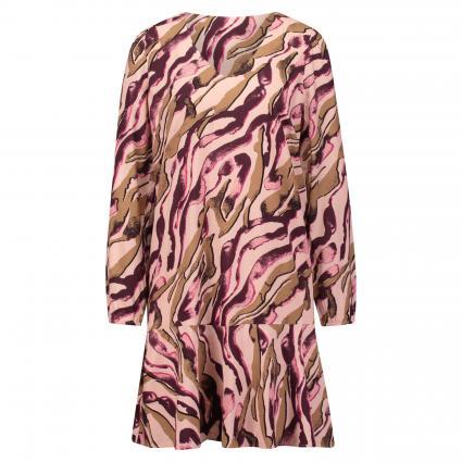 Kleid mit All-Over Muster pink (42A6 AOP Zebra) | 40