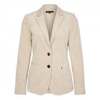 Slim-Fit Blazer aus Cord beige (8125 beige) | 34