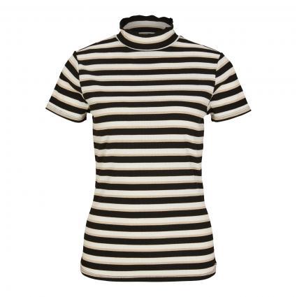 T-Shirt mit Glitzer-Details schwarz (99X8 black lure)   42