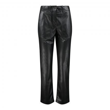 Hose in Leder-Optik schwarz (9999 black)   36   32