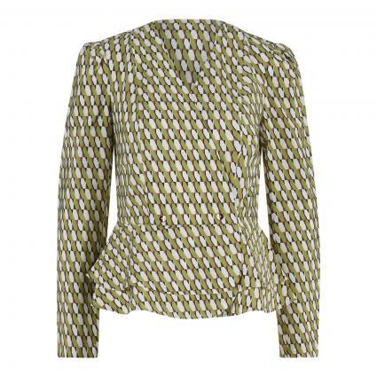 Bluse mit asymmetrischem Verschluss grün (71B7 AOP Small) | 40
