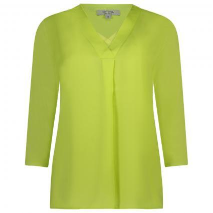 T-Shirt mit V-Ausschnitt  grün (7040 lime)   42