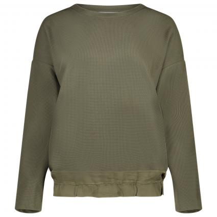 Sweatshirt mit Rundhalsausschnitt  oliv (7844 khaki) | 40