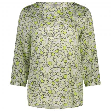 Bluse mit All-Over Muster  ecru (02A2 AOP Leaf)   36