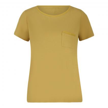 T-Shirt mit Brusttasche gelb (1491 light gree) | 36