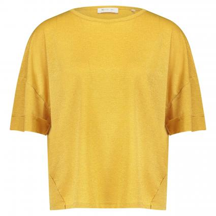 Oversized Shirt mit Schimmer-Finish gold (337 spring gold) | XL