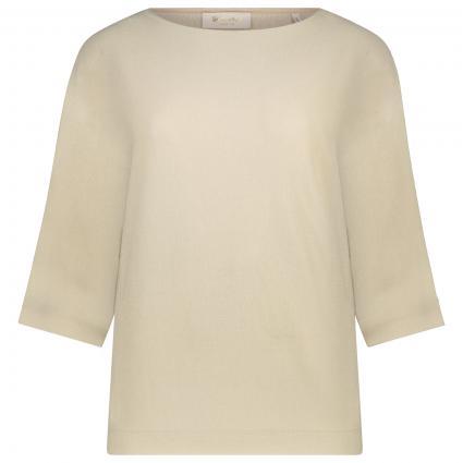 Strickshirt mit 3/4 Ärmel beige (221 desert sand) | XS