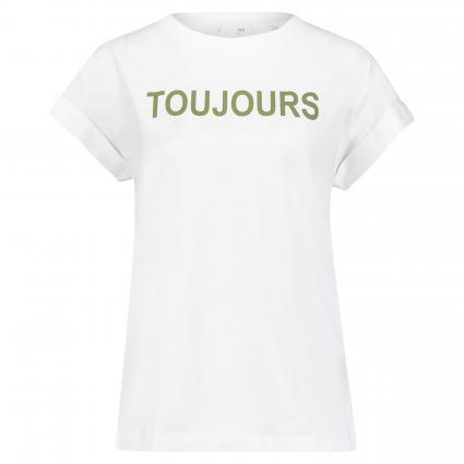 T-Shirt mit Print oliv (454 safari green)   XS